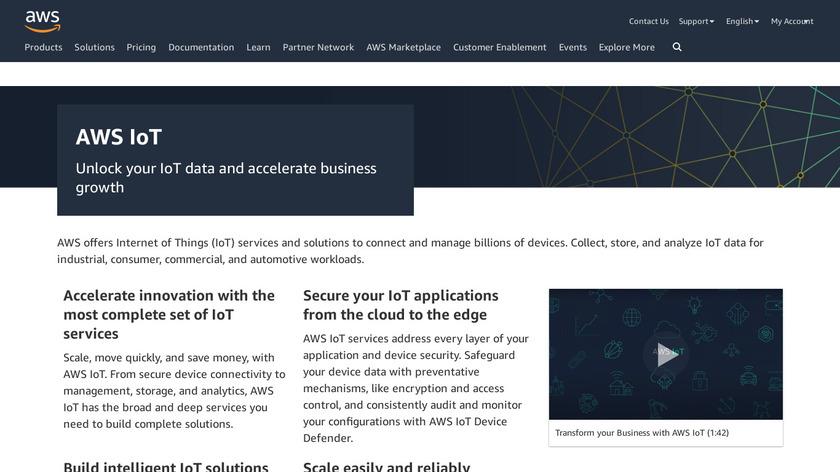 AWS IoT Landing Page