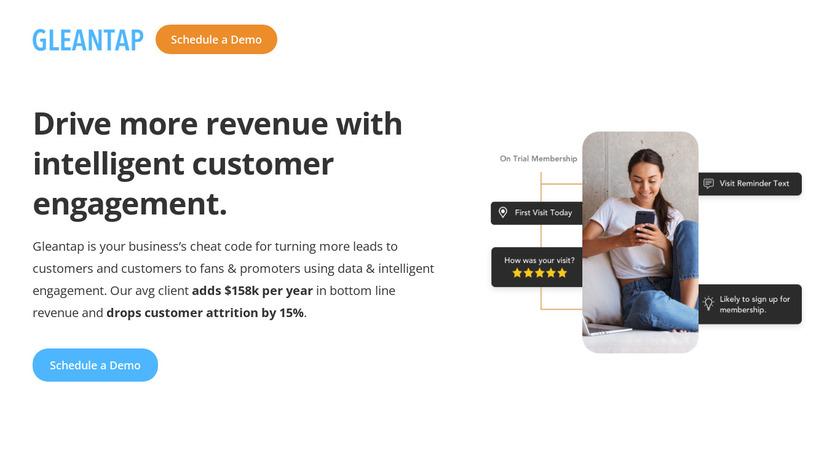 Gleantap Landing Page
