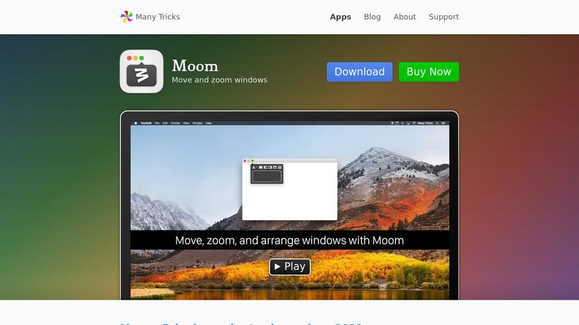 Moom Landing Page