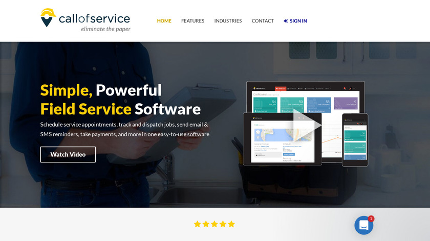 Call of Service Landing Page