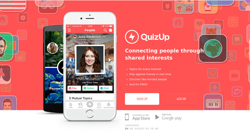 QuizUp Landing Page
