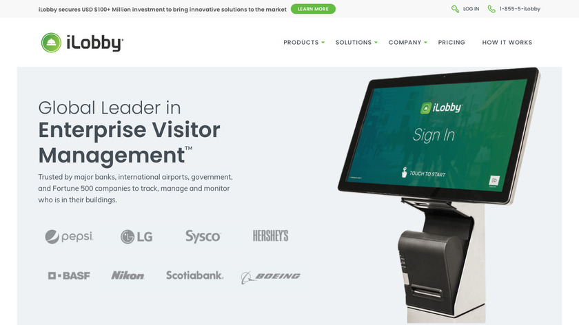 iLobby Landing Page