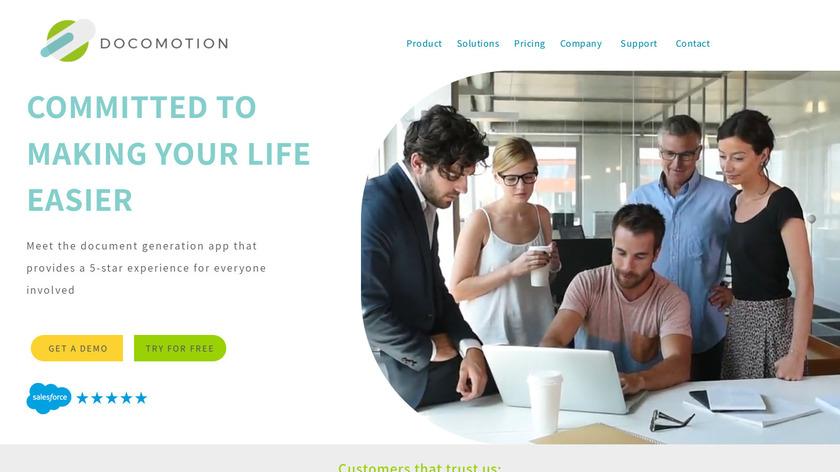 Docomotion Landing Page
