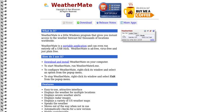 WeatherMate Landing Page