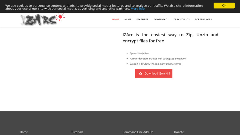 IZArc Landing Page