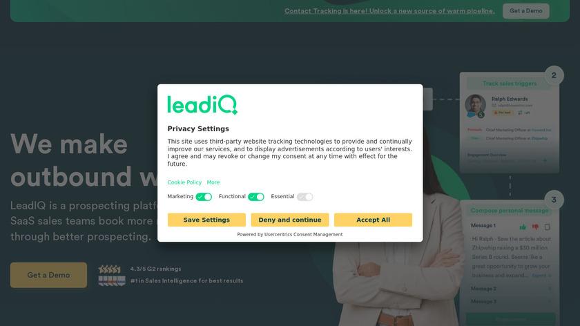 LeadIQ Landing Page