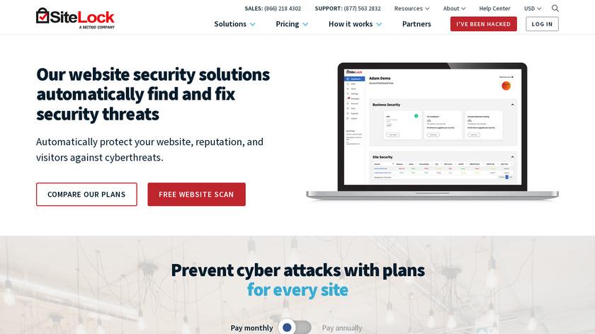 SiteLock Landing Page