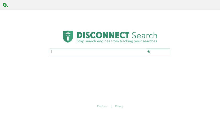 Disconnect Search Landing Page