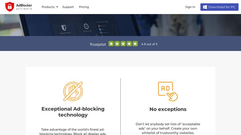 AdBlocker Ultimate Landing Page