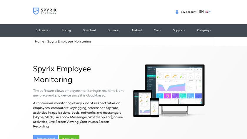 Spyrix Employee Monitoring Landing Page