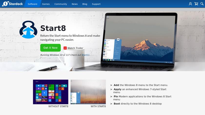 Start8 Landing Page