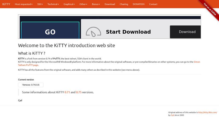 KiTTY Landing Page