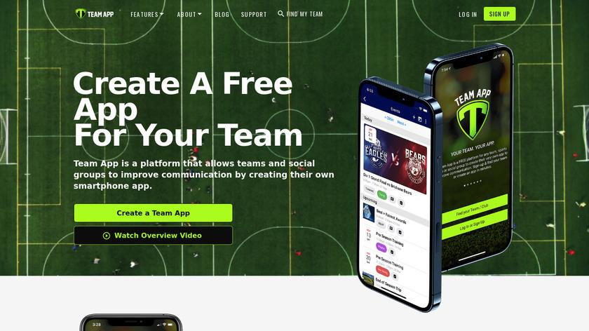 Team App Landing Page