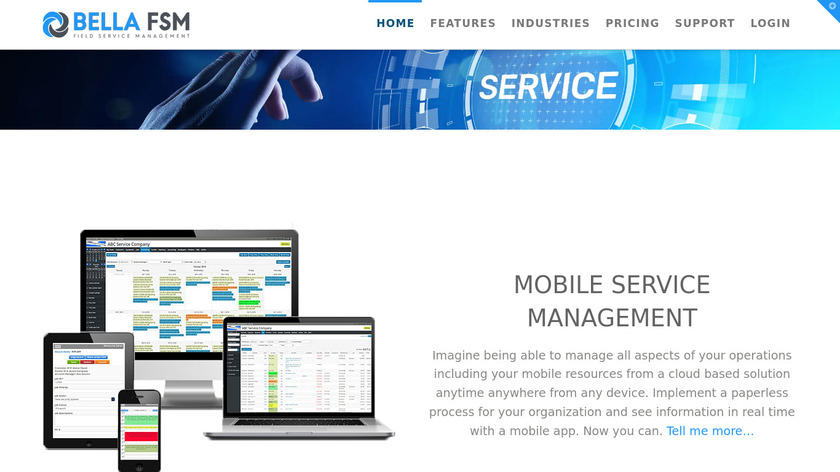 Bella FSM Landing Page