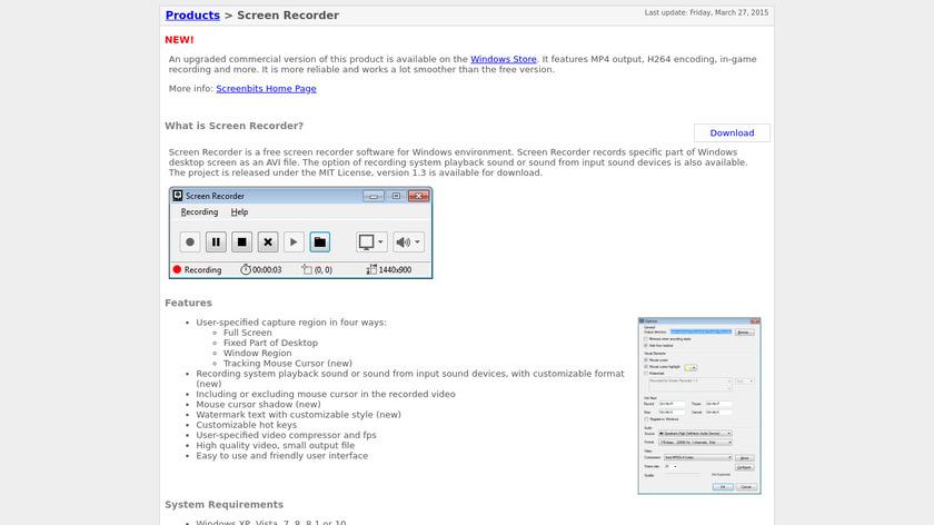 Screen Recorder Landing Page