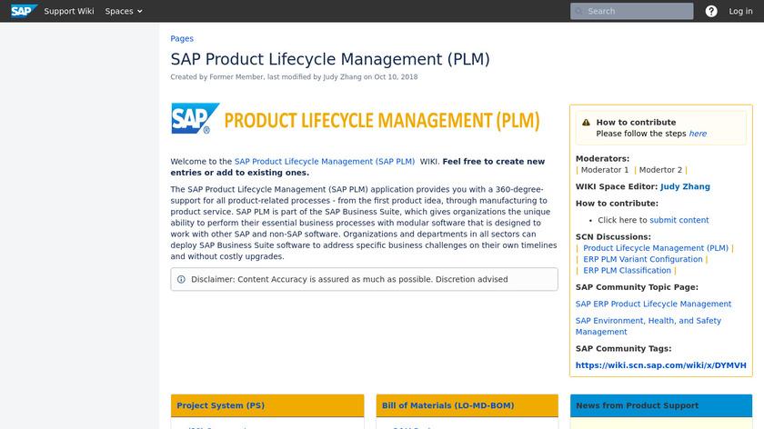 SAP PLM Landing Page
