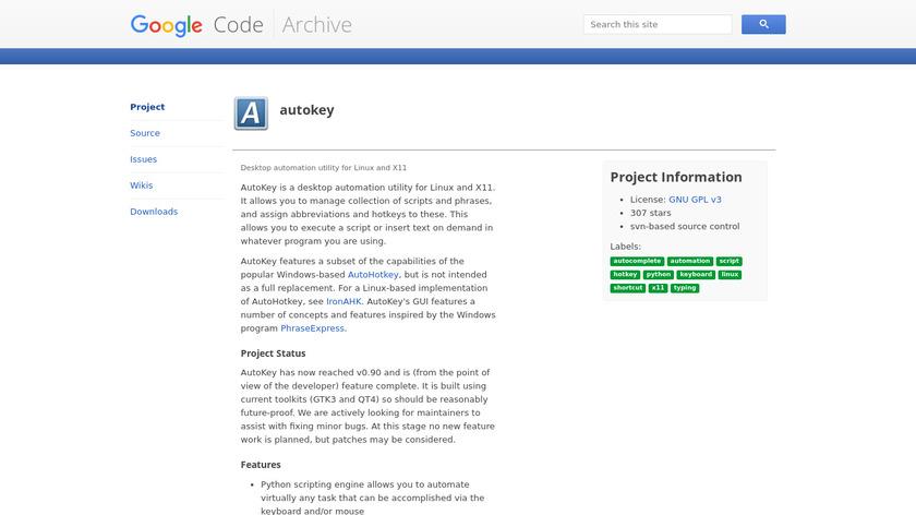OldAutoKey Landing Page