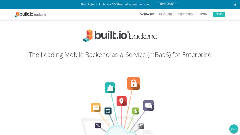 Built.io Backend Landing Page
