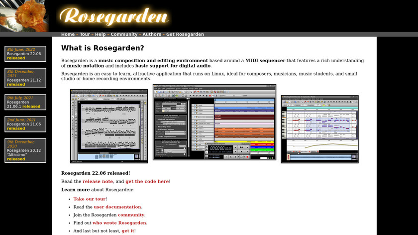 Rosegarden Landing Page