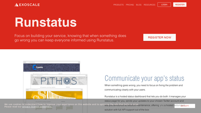 Runstatus Landing Page