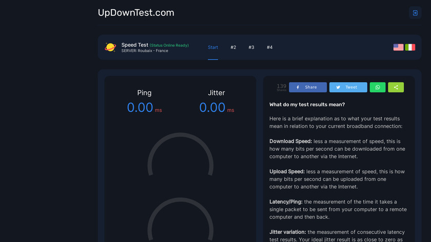 Updown Test Landing Page