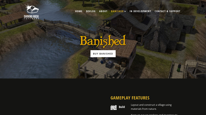 Banished Landing Page