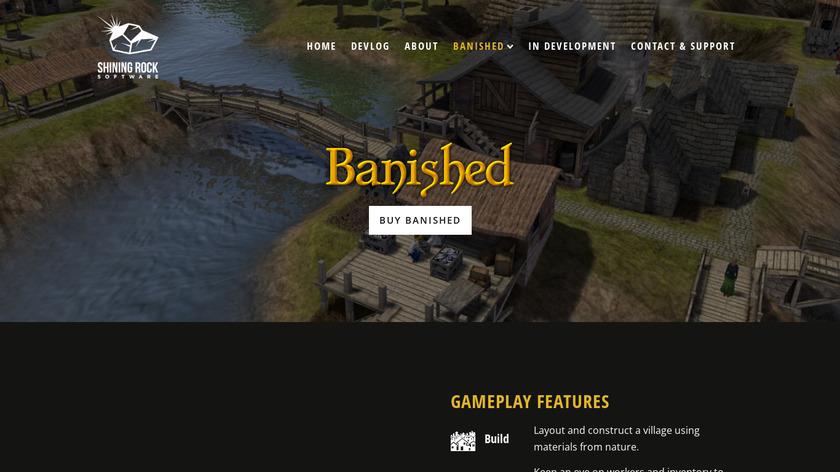 Banished Landing Page