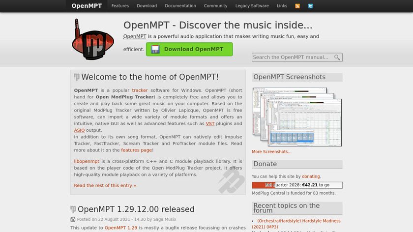 OpenMPT Landing Page