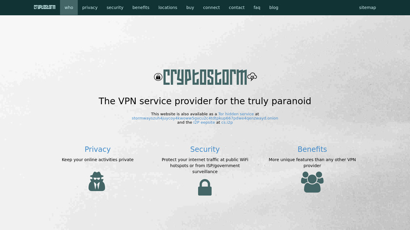 cryptostorm Landing Page