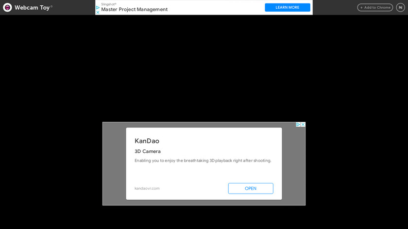 Webcam Toy Landing Page
