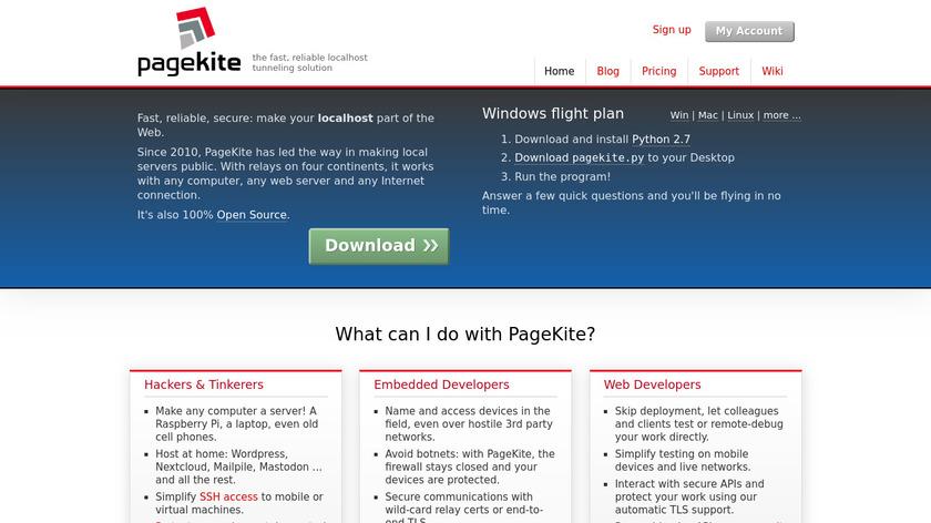 Pagekite Landing Page