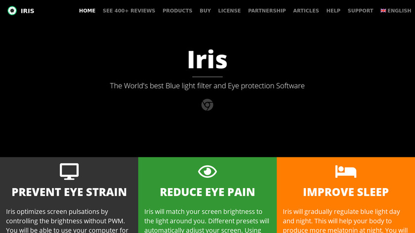Iris Landing Page