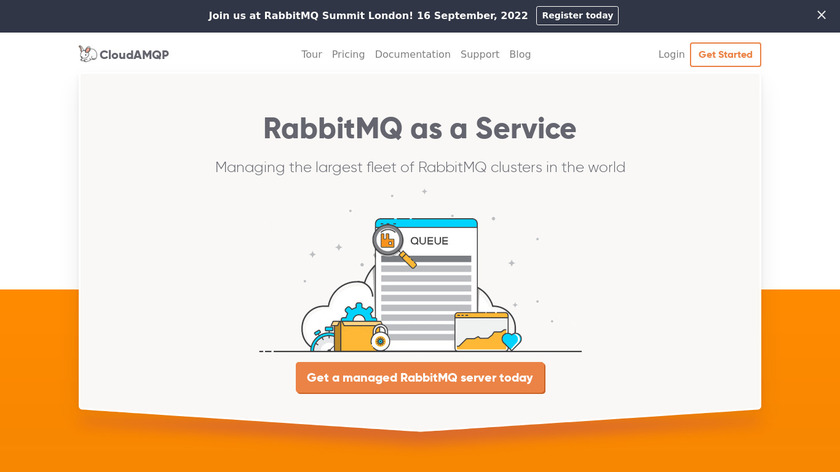CloudAMQP Landing Page