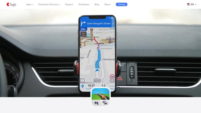 Sygic GPS Navigation Landing Page