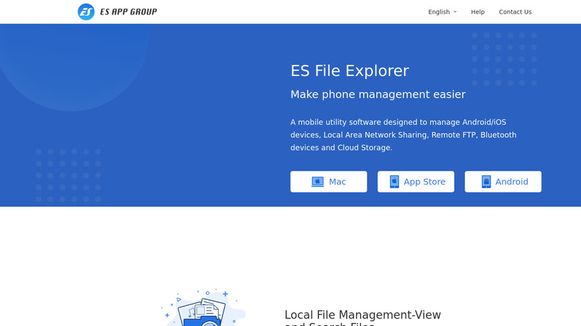 ES File Explorer Landing Page
