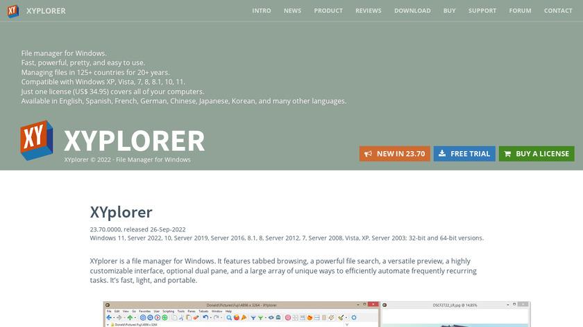 XYplorer Landing Page