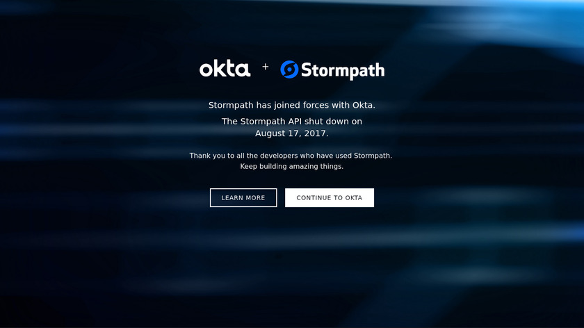 Stormpath Landing Page