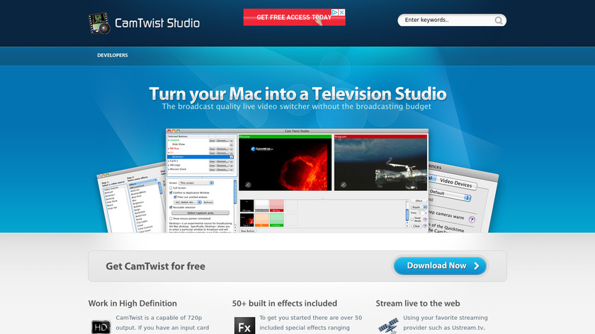 CamTwist Landing Page