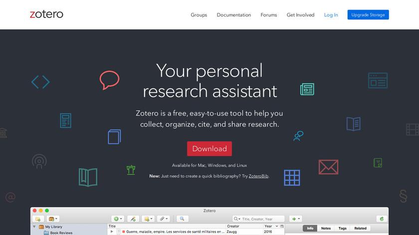 Zotero Landing Page