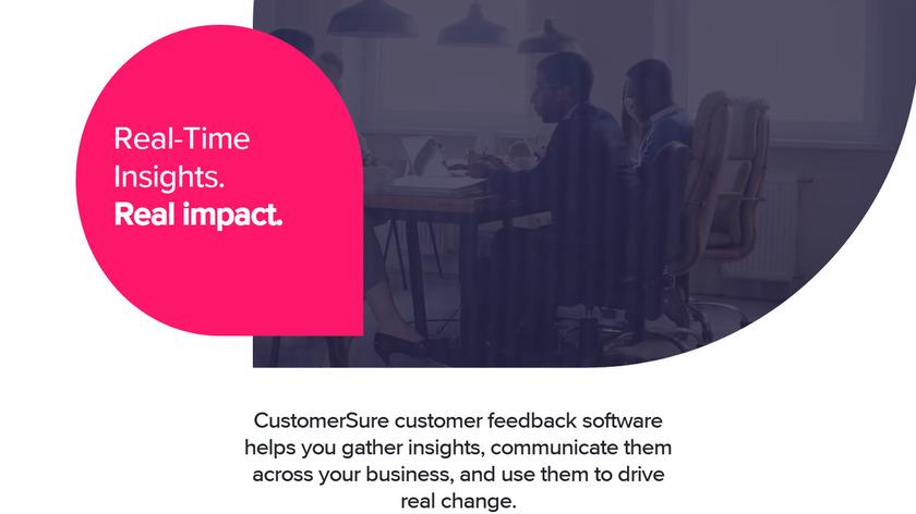 CustomerSure Landing Page