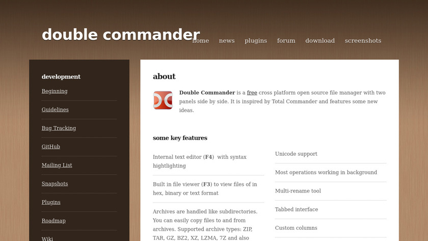 Double Commander Landing Page