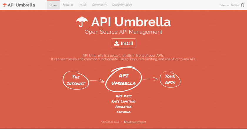API Umbrella Landing Page