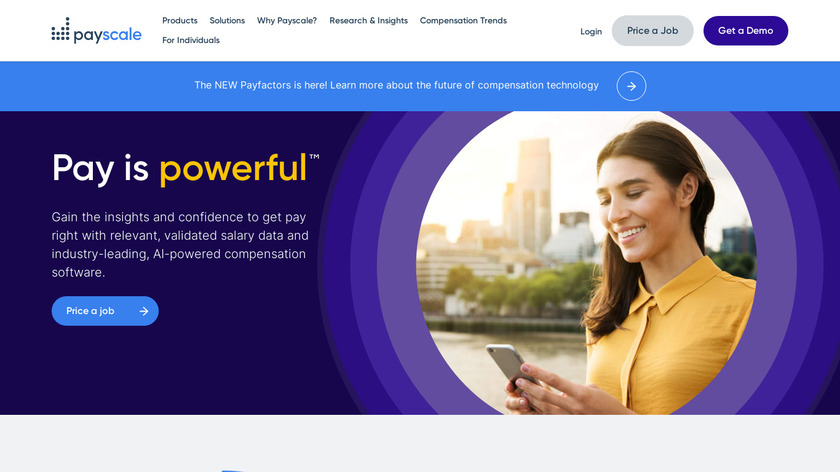 PayScale Landing Page