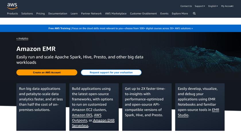 Amazon EMR Landing Page