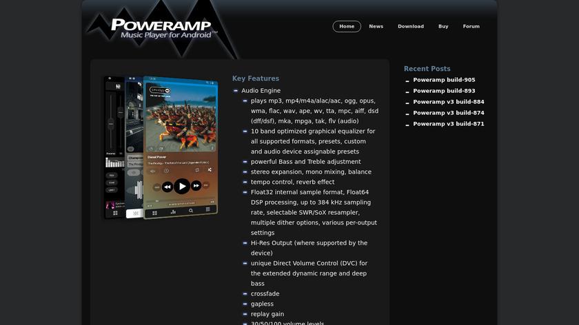 Poweramp Landing Page