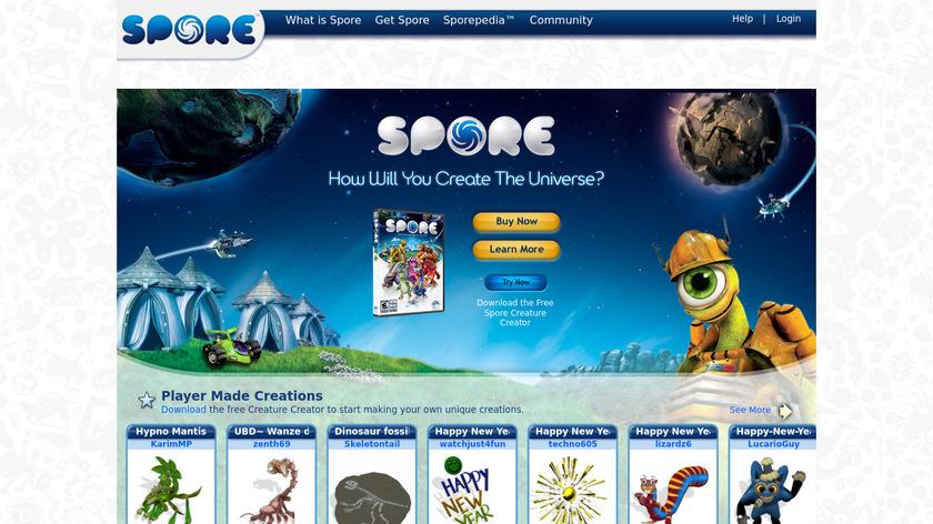 Spore Landing Page