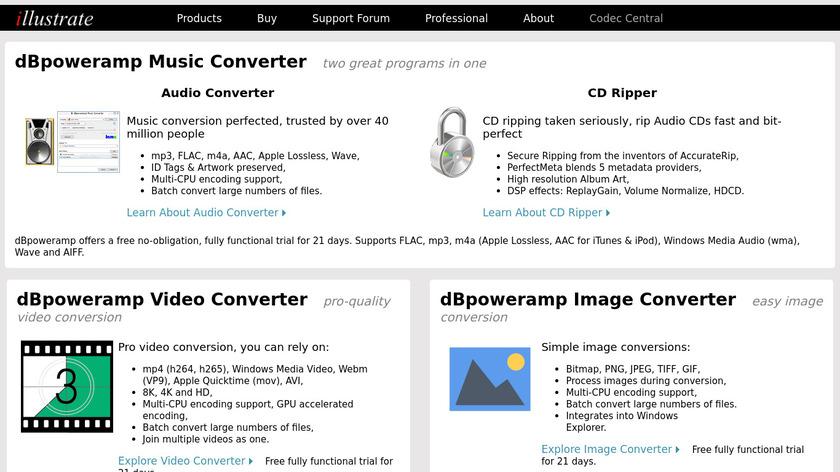 dBpoweramp Landing Page
