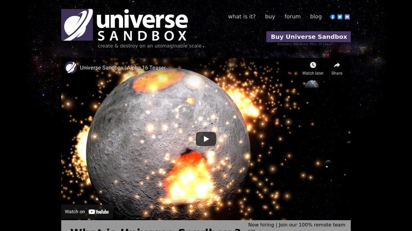 Universe Sandbox Landing Page