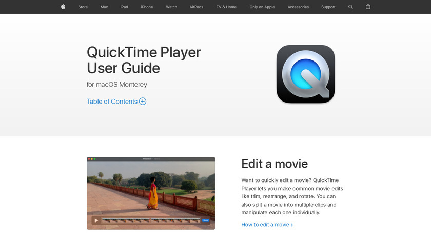 QuickTime Player Landing Page