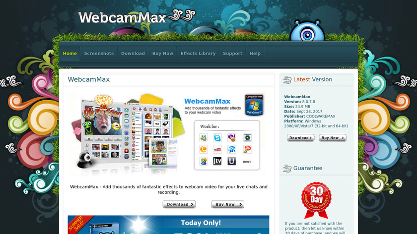 WebcamMax Landing Page